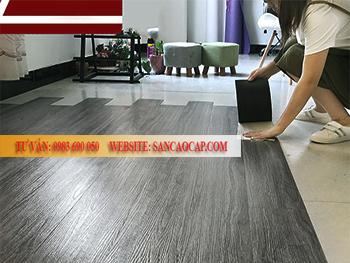 Công trình sàn gỗ công nghiệp Camsan tại phường Trung Văn, quận Nam Từ liêm.