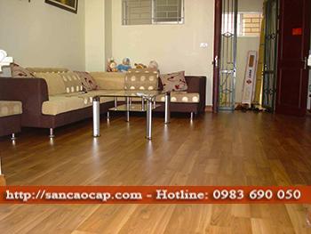 Công trình sàn gỗ công nghiệp JANMI tại phường Cống Vị, quần Ba Đình
