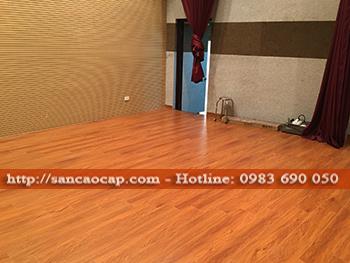 Công trình sàn gỗ công nghiệp NANOTEX tại tthị trấn Kinh Môn, huyện Kinh Môn