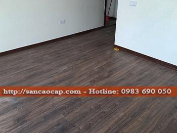 Công trình sàn gỗ công nghiệp ALSAFLOOR tại thị trấn Trâu Quỳ, huyện Gia Lâm