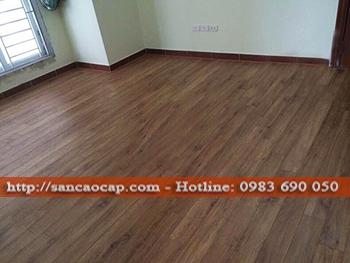 Công trình sàn gỗ công nghiệp ROBINA tại Lạc Long Quân, quận Tây Hồ