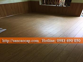 Công trình sàn gỗ công nghiệp PAGO tại phường Quang Trung, quận Hà Đông